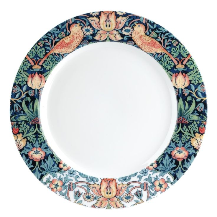 Spode Strawberry Thief 10.75 Inch Dinner Plate Set of 4