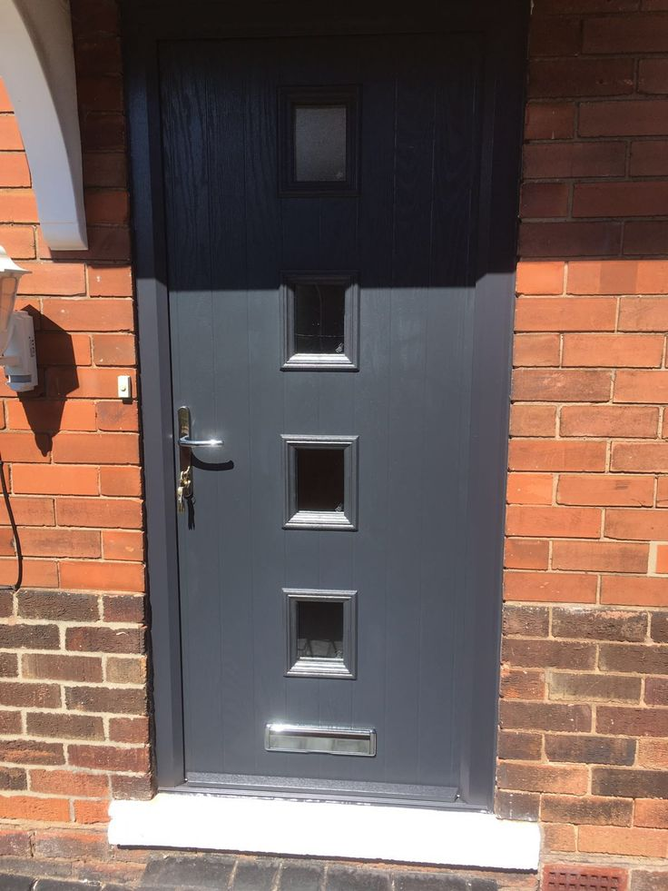 We have replaced the UPVC front door with a grey on white Door-Stop International Four Square composite door. Installed in Broxtowe, Nottingham. For a free quotation call us on 01158 660066 visit http://www.thenottinghamwindowcompany.co.uk or visit our showroom in West Bridgford. #Nottingham #Windows #doors #Conservatories #Composite
