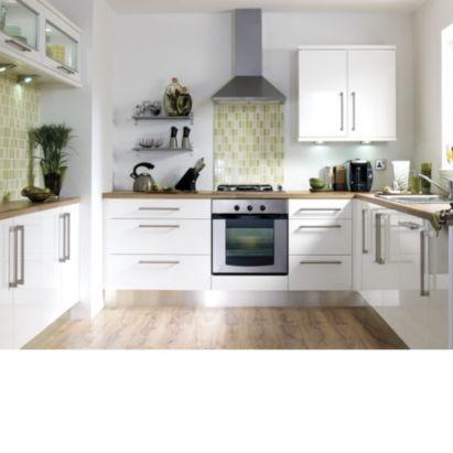 it Kitchens Gloss White Slab Full-Height Door, Pack B, (W)500mm, 0000003430804    ARGH!!! White or Cream !!!???