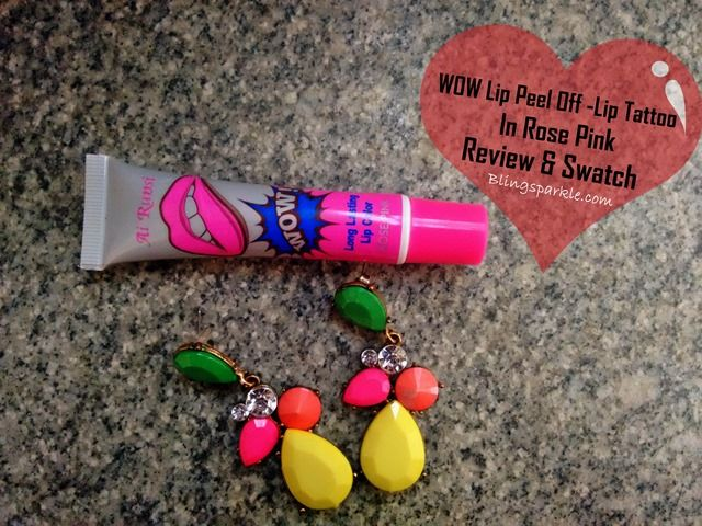 Bling Sparkle: Wow Lip Peel Off Lip Tattoo In Rose Pink Review & ...