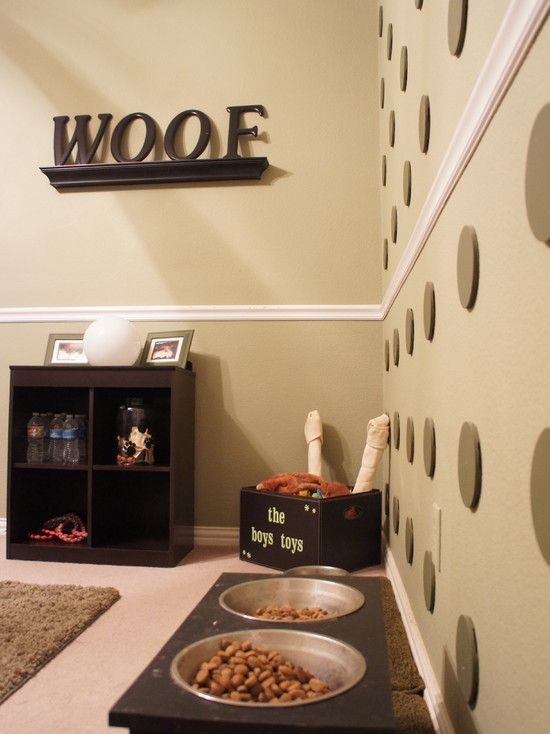 Dog Room Design, Pictures, Remodel, Decor and Ideas - TK ladies, this is obviously something we should show Kyle...not that nacho doesn't have a swag room anyway