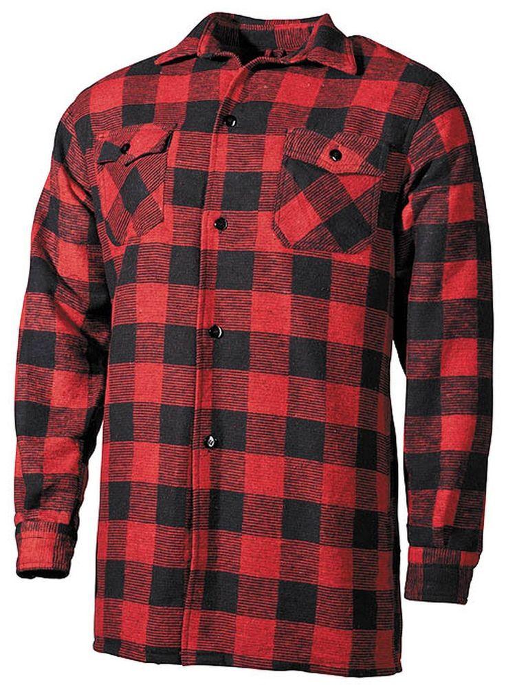 Legno Fäller Camicia Per Tempo Libero a Quadri Uomo Di Flanella | eBay