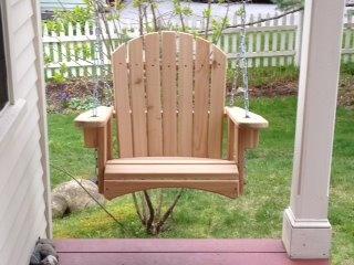 Single porch swing Garden furniture Pinterest