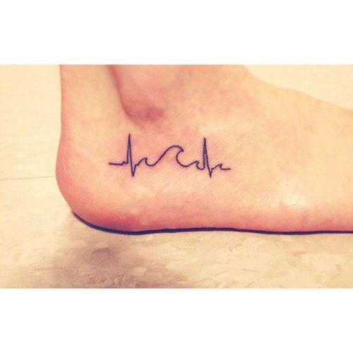Tattoo Designs Ecg: Best 25+ Heartbeat Tattoos Ideas On Pinterest
