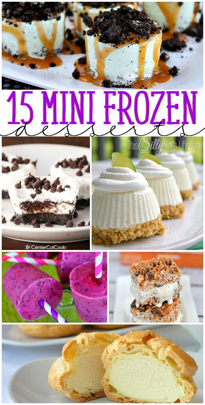 15 Mini Frozen Desserts from ThisSillyGirlsLife
