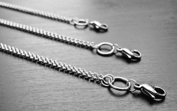 20 Stainless Steel Living Locket ChainRolo Chain by PrettyPalazzo