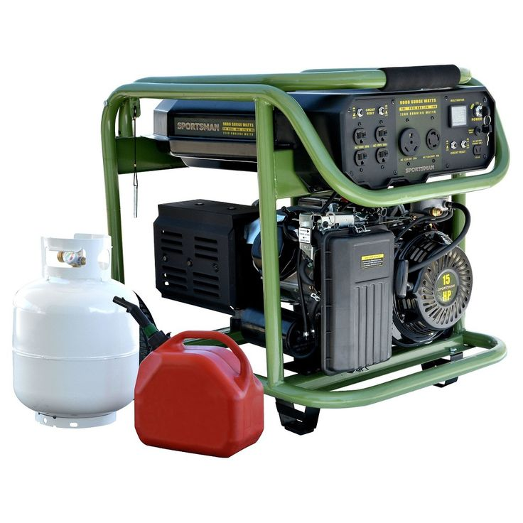 Tri Fuel 9000 Watt Portable Dual Fuel Generator - Green - Sportsman