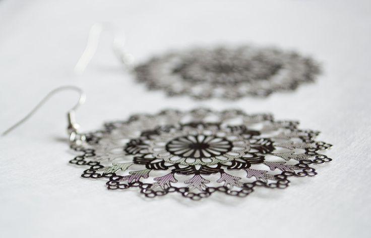 Dangle Earrings – Handcrafted Silver filigree earrings lace Earring – a unique product by unikacreazioni-artisan on DaWanda