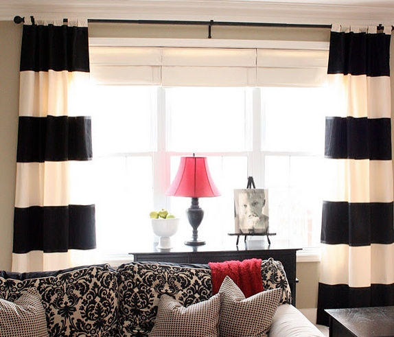 Black And White Curtains Are Just Lovely Think A Sheer