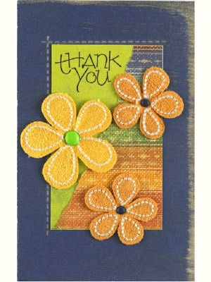 Always a ton of ideas for card making: Flowers Cards, Cards Ideas, Handmade Cards, Creative Cards, Patterns Paper, Thank You Cards, Thanks You Cards, Felt Flowers, Diy Cards