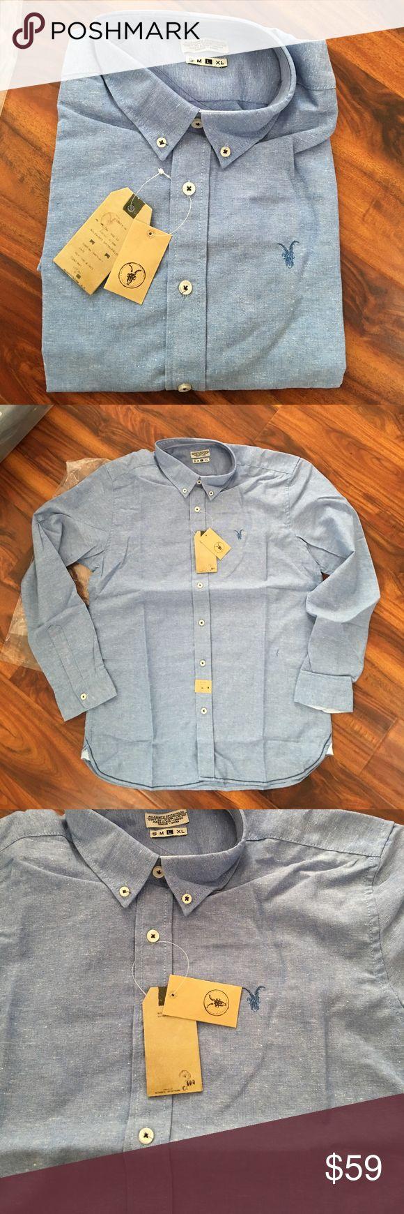 All Saints men's shirts large Nwt. Slim fit All Saints Shirts Casual Button Down Shirts