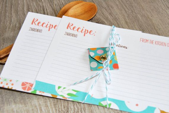 Schede ricette stampabili schede ricette di Lovelyprintable