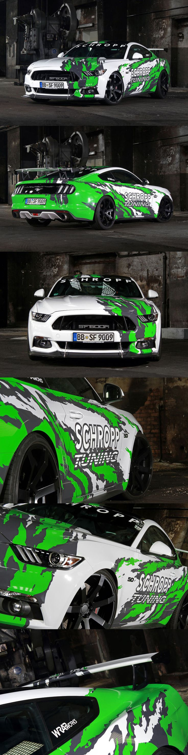 Ford Mustang GT part wrap for Schropp Tuning