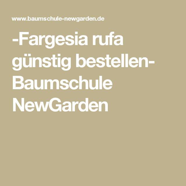 -Fargesia rufa günstig bestellen- Baumschule NewGarden