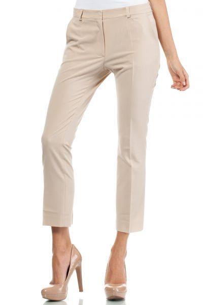 Beige pants with formal wear cut