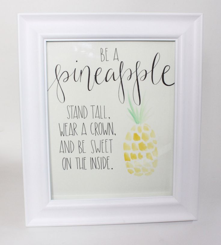 Be a Pineapple - Watercolor | Painting | Hand Painted | Original Painting | Nursery Art | Nursery Decor | Nursery Painting | Home Decor by palaceandjames on Etsy https://www.etsy.com/listing/287750483/be-a-pineapple-watercolor-painting-hand