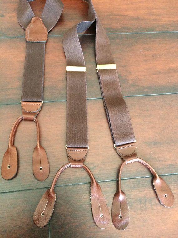 CAS Suspenders Brown Suspenders Button Suspenders by GloryDayz