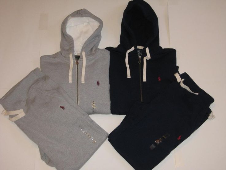 polo sweat suits | Polo Ralph Lauren Men's Classic Fleece Hoodie Track Jacket sweat Pants ...