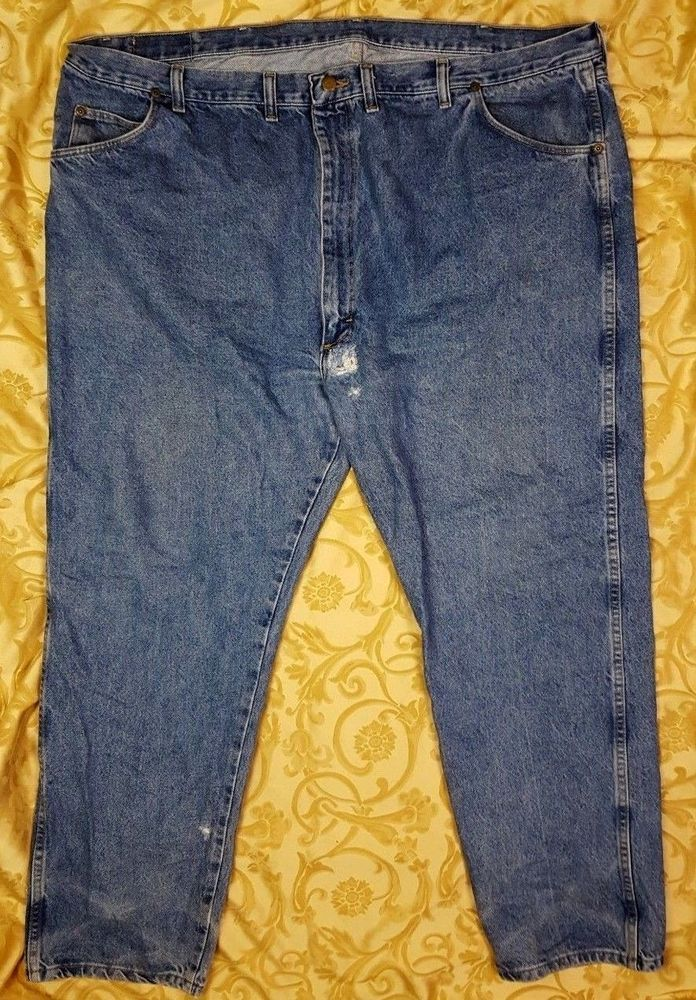 e615432e Mens Jeans Size 50 x 30 Wrangler Regular Fit Premium Quality Original Hero  Denim #Wrangler #regularfit #MensJeans