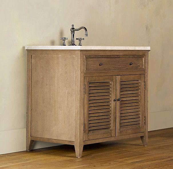 Shutter Single Vanity Sink Restoration Hardware  Http://www.restorationhardware.com/ · Rustic Bathroom VanitiesVanity ...