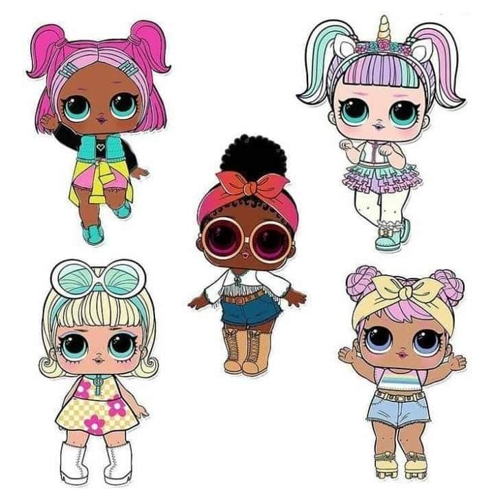 Куклы лол картинки шаблоны для печати цветные