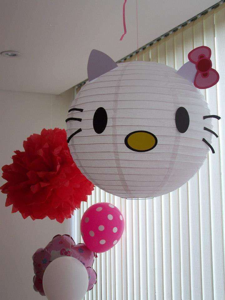 Fun paper lanterns at a Hello Kitty birthday party! See more party ideas at CatchMyParty.com!