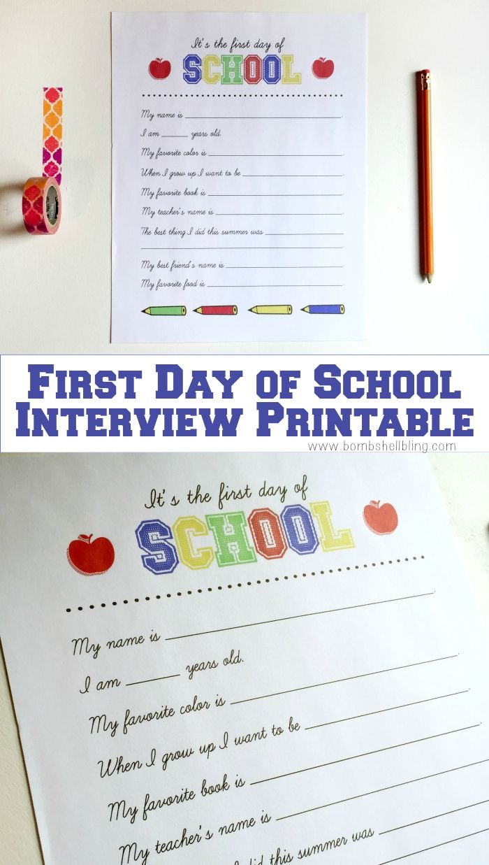 Love this for an easy back to school family tradition!