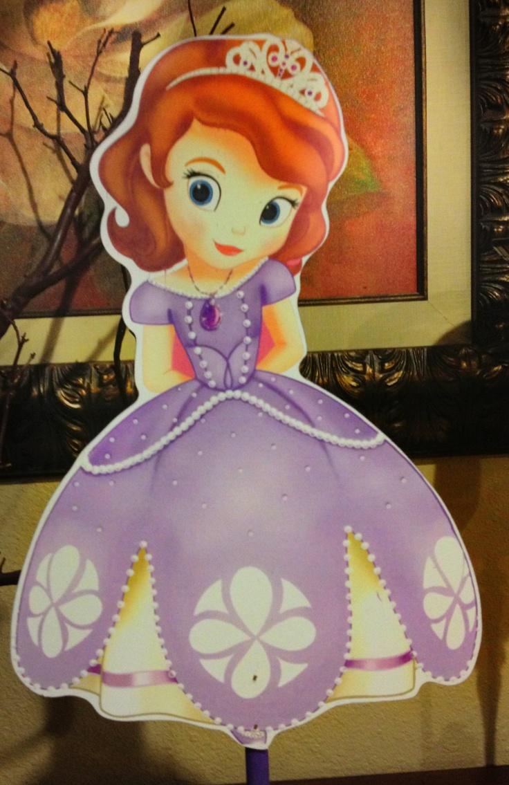 Princes Sofia the First wooden centerpiece for birthdays. $17.75, via Etsy.