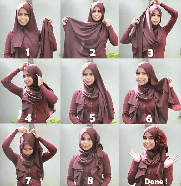 Flower hijab tutorial