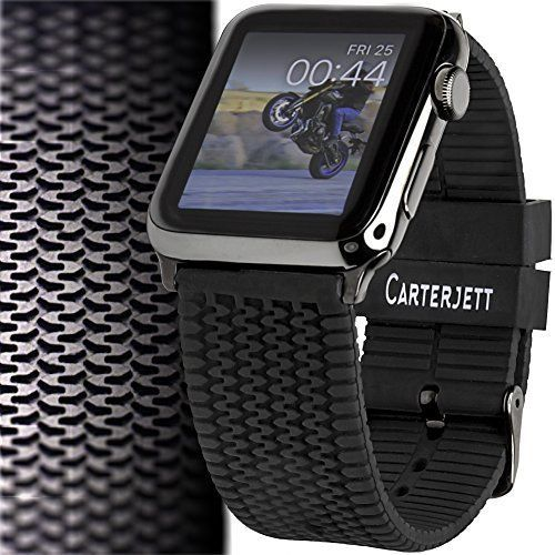 BLACK-TIRE-TREAD-Wristband-Band-Strap-Accessories-For-iWatch-42MM-APPLE-WATCH