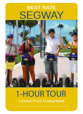 This is a great new twist on a walking tour, this 1-hour narrated tour will take you through the Art Deco District giving you the history and taking you to many of the famous places on South Beach.  for the best prices and deals check out www.MiamiSightSeeingTours.com