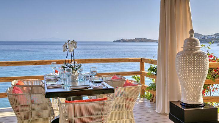 Table setup At Buddha Bar Beach Santa Marina, Mykonos