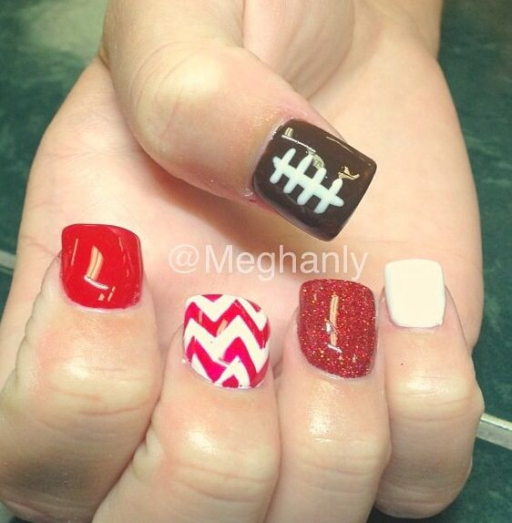 Best 25+ Football nails ideas on Pinterest | Football nail designs, Football  nail art and Football season - Best 25+ Football Nails Ideas On Pinterest Football Nail Designs