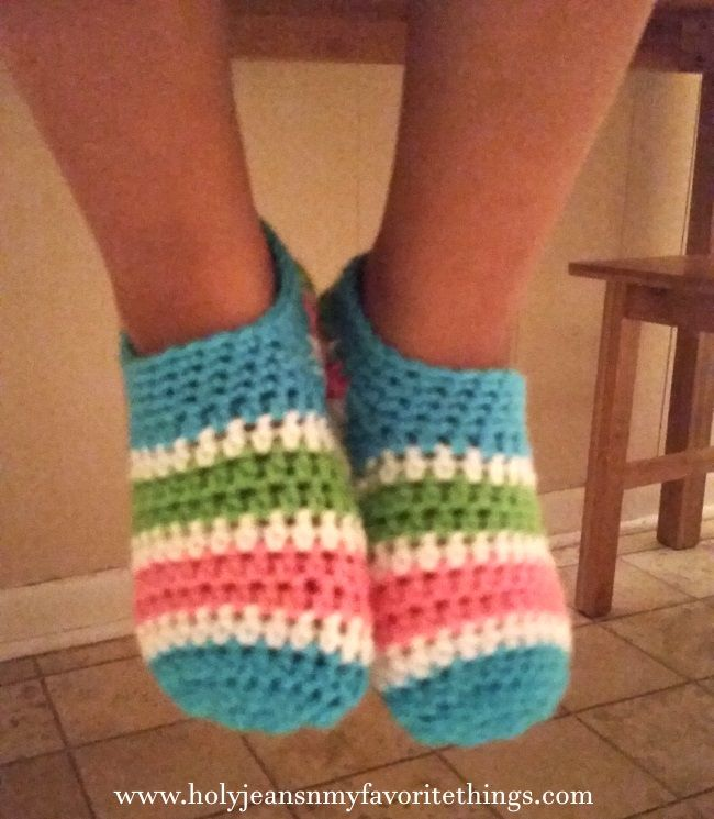 Cutie Patootie Girls Crochet Slippers Pattern