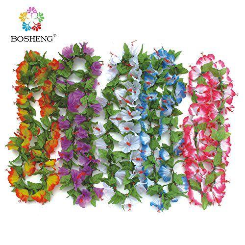 BOSHENG Colorful Luau Plastic Flower Leis Necklaces for Tropical Island Beach Theme Party Event, Birthday Supplies, Costume,Set of 5 BOSHENG http://www.amazon.com/dp/B01E31WJHS/ref=cm_sw_r_pi_dp_XTWcxb1WK2NEM