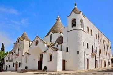 The wonderful Church of S. Antonio in Alberobello