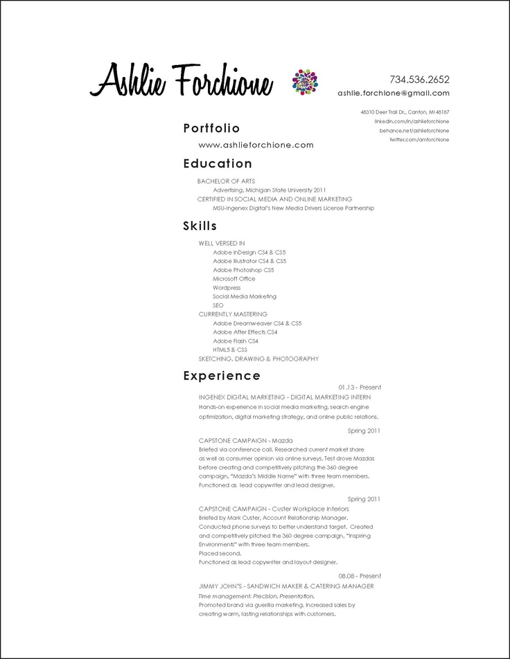51 best Cool Resume Ideas images on Pinterest Gym, Resume tips - resume social media