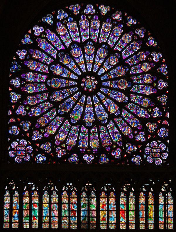 North And South Rose Windows Notre Dame Paris