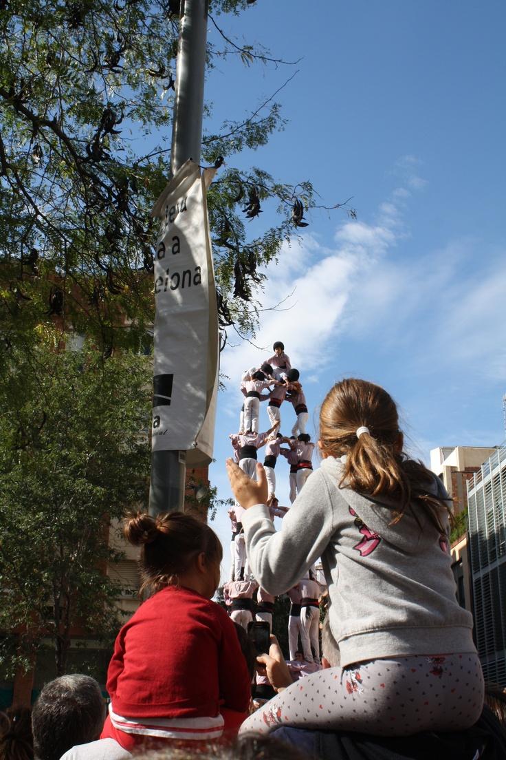 Castellers a les Festes de les Corts.  JRom Pic 2012