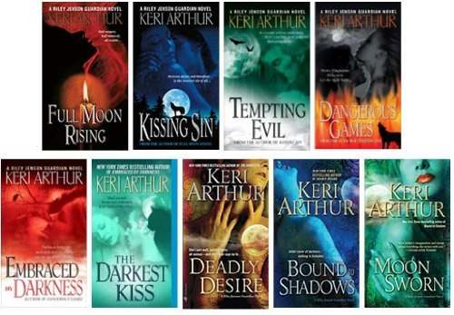 The Complete Riley Jensen Series Collection 1-9 (#1 Full Moon Rising, #2 Kissing Sin, #3 Tempting Evil, #4 Dangerous Games, #5 Embraced By Darkness, #6 The Darkest Kiss, #7 Deadly Desire, #8 Bound to Shadows, #9 Moon Sworn) by Keri Arthur, http://www.amazon.com/dp/B007U92SR2/ref=cm_sw_r_pi_dp_mw-Wqb053Q56S