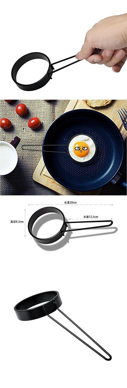 Prokitchen Nonstick Round Pancake Egg Rings, Egg Poacher Pancake Ring pan Mold for cooking,Set of 2