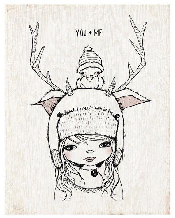 YOU & ME 8 X 10 print by KelliMurrayArt on Etsy, $15.00