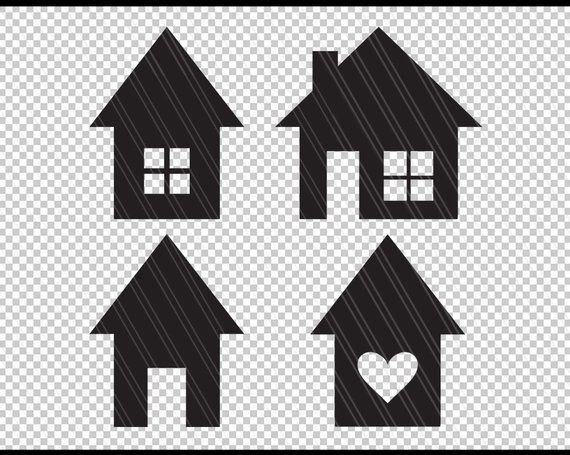 House Svg Home Svg House Vector Clipart House Shapes Etsy House Vector Screen Printing Svg Shapes