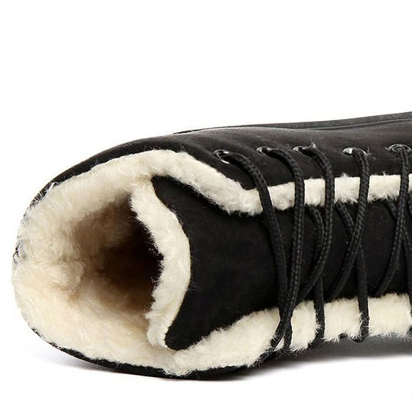 Winter Keep Warm Lace Up Snow Boots - US$28.99