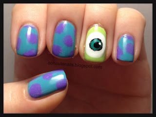 monster university nails
