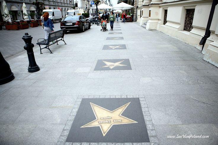 Avenue of Filmstars in Lodz. #avenue #filmstars #lodz #street #stars #łódź #piotrkowska #visitpoland #polska #seeuinpoland