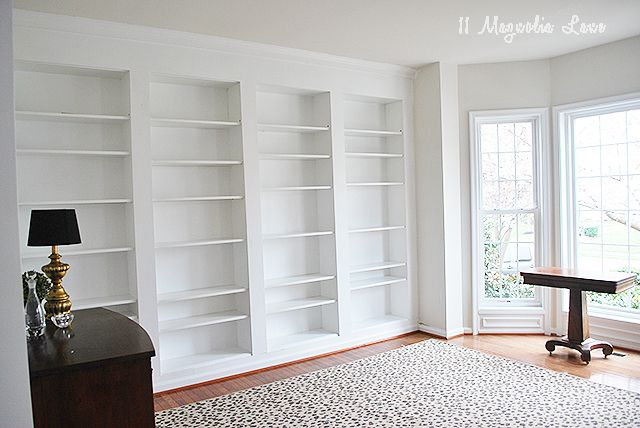 DIY Built-in Custom Bookshelves Using IKEA Billy Bookcases Hack | 11 Magnolia Lane