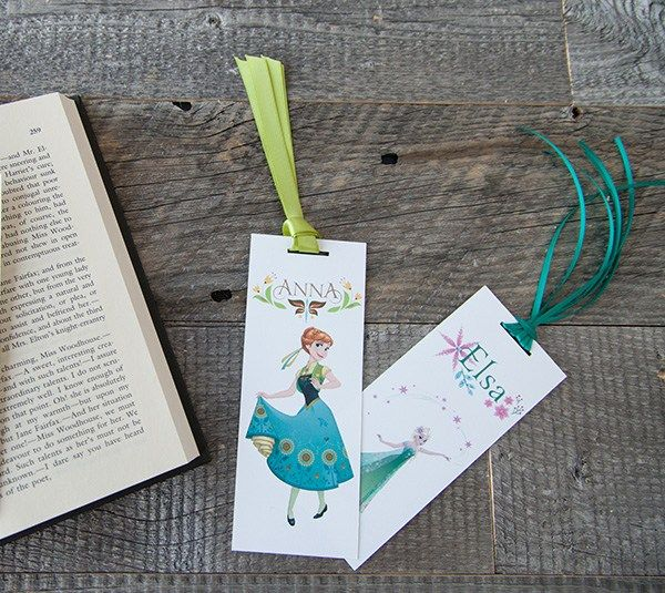 Printable Frozen Fever Anna and Elsa Bookmarks. Make It Now with the Cricut Explore machine and Print then Cut feature in Cricut Design Space.