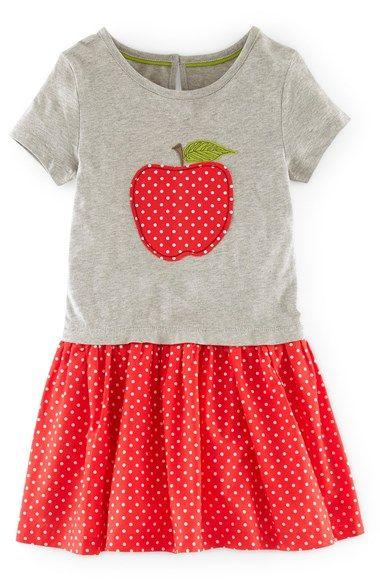 Mini Boden 'Hotchpotch' Appliqué Dress (Toddler Girls, Little Girls & Big Girls) available at #Nordstrom