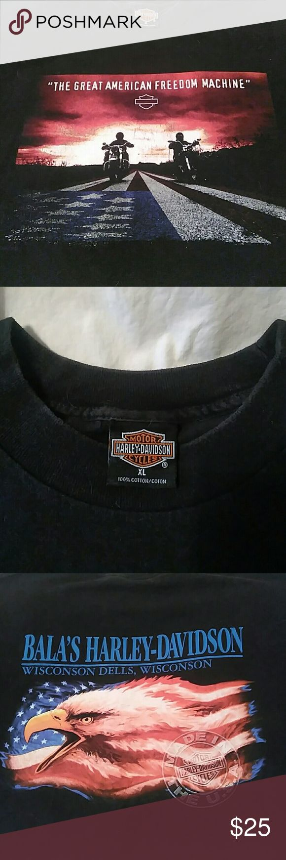 Harley Davidson T-shirt 1997 XL 1997 Harley t-shirt from Bala's, Wisconsin Dells.  Gently used condition, size XL. Harley-Davidson Shirts Tees - Short Sleeve